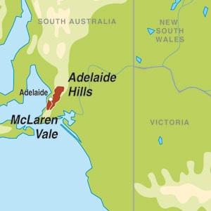 Map showing McLaren Vale