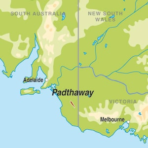 Map showing Padthaway