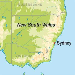 Map showing Undefined Australian Region