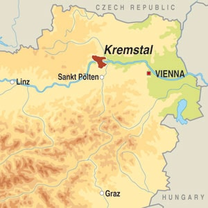 Map showing Kremstal