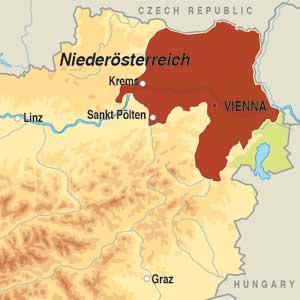 Map showing Niederösterreich