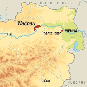 Map showing Wachau