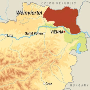 Map showing Weinviertal
