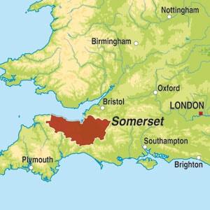 Map showing Somerset