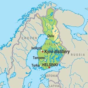 Map showing Isokyrö