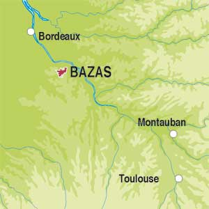 Map showing Vin de France