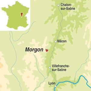 Map showing Morgon AOP
