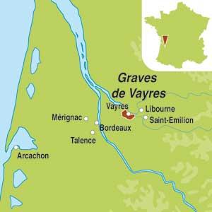 Map showing Bordeaux AOC