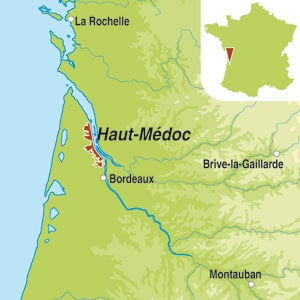 Map showing Haut-Medoc AOC