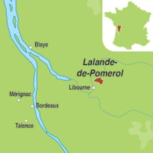 Map showing Lalande de Pomerol AOC