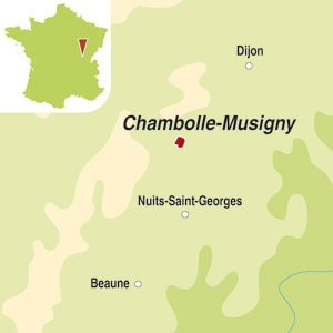 Map showing Chambolle-Musigny AOC