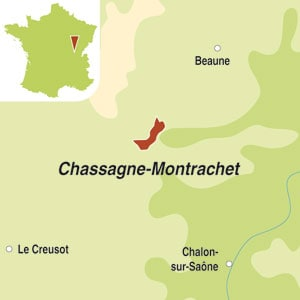 Map showing Chassagne-Montrachet AOC