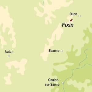 Map showing Fixin Premier Cru AOC