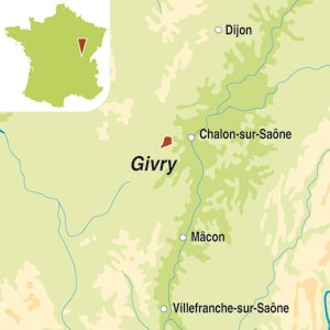 Map showing Givry AOC