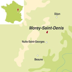 Map showing Morey-Saint-Denis Premier Cru AOC