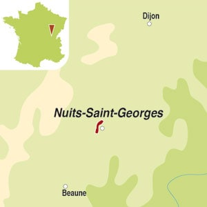 Map showing Nuits-Saint-Georges AOC
