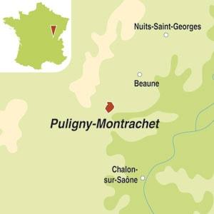 Map showing Puligny-Montrachet AOC