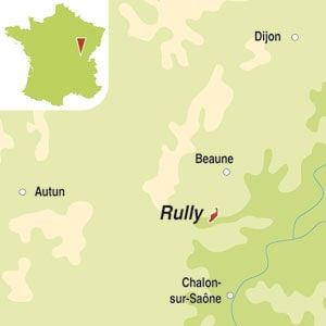 Map showing Rully AOC
