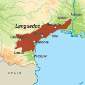 Map showing Coteaux de Peyriac IGP