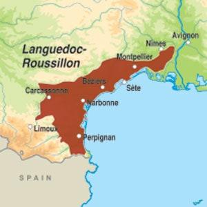 Map showing Vallée du Paradis IGP