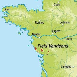 Map showing Val de Loire IGP