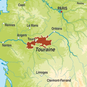 Map showing Cremant de Loire AOC