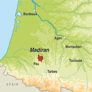 Map showing Madiran AOP
