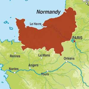 Map showing Cidre de Normandie