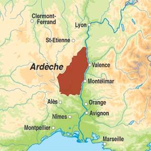 Map showing Méditerranée IGP