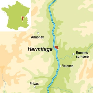 Map showing Hermitage AOC