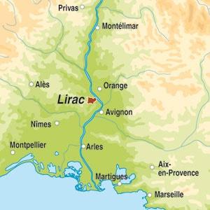 Map showing Lirac AOP