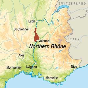 Map showing Vin de France