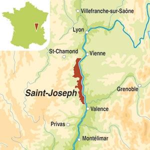 Map showing Saint-Joseph AOC
