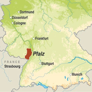 Map showing Pfalz QbA