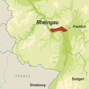 Map showing Rheingau QmP