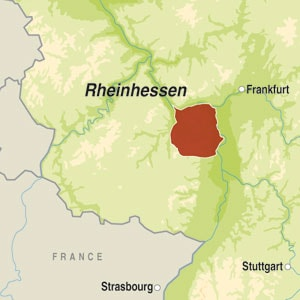 Map showing Rheinhessen QbA