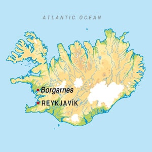 Map showing Undefined Icelandic Region