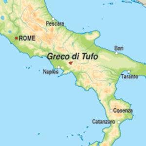 Map showing Greco di Tufo DOCG