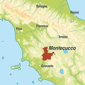 Map showing Montecucco