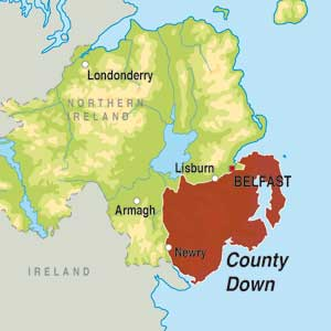 Map showing County Down