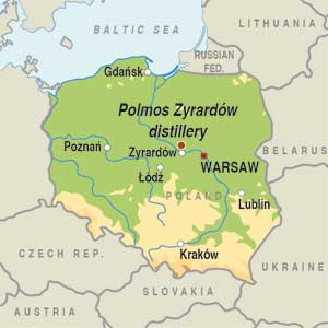 Map showing Undefined Polish Region