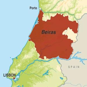 Map showing Beira Atlantico Vinho Regional