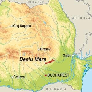 Map showing Dealu Mare