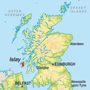Map showing Islay