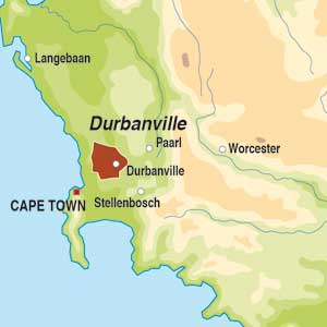 Map showing Durbanville