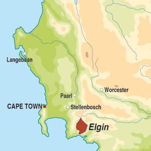 Map showing Elgin WO