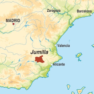 Map showing Jumilla DO