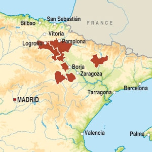 Map showing Vino Tinto