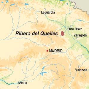 Map showing Vino de la Tierra Ribera del Queiles
