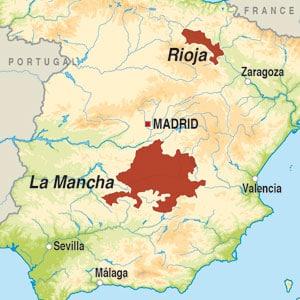 Map showing Vino Blanco